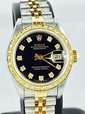 Rolex Lady Datejust 69173 acero Gold 26mm diamante esfera & lünette serie X