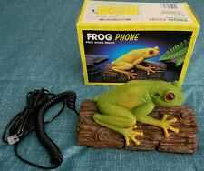 Vintage Telemania Tree Frog Croaking Handset Telephone with Original Box