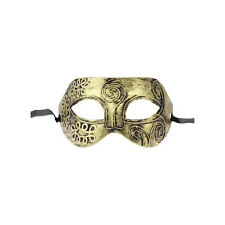 Gold Tone Roman Greek Mens Venetian Halloween Costume Party Masquerade Mask sc