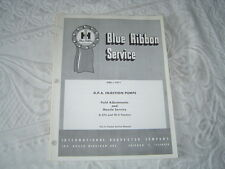 IH International B-275 TD-5 tractor DPA injection pumps service manual