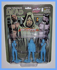 THE WALKING DEAD MICHONNE BLUE NYCC 2012 Exclusive MINI FIGURE SET DARYL DIXON