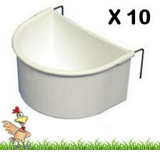 10 x EXTRA LARGE D CUPS CAGE DRINKER FEEDER POULTRY BIRDS RABBIT GUINEA PIG