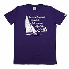 You Can't Control Wind But Adjust The Sails T Shirt slogan gift tee sailing boat