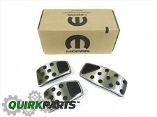 2014-2017 JEEP RENEGADE CHROME PEDAL PAD COVERS SET NEW MOPAR GENUINE OEM
