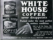 POSTCARD OF VINTAGE ADVERTISING FOR WHITE HOUSE COFFEE AND WHITE HOUSE TEA