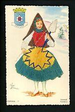Embroidered clothing postcard Artist Elsi Gumier, Portugal Covilha woman #11