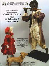 Catalogue de vente Poupées Jeux Automates 02/2012