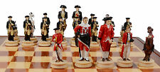 REVOLUTIONARY WAR THEMED  CHESS SET 32  pieces BEAUTIFUL AND UNIQUE