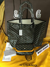 Goyard St Louis Black PM tote bag - 100% AUTHENTIC & NEW - saint gm monogram lv