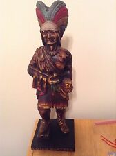 "Dutch Master Cigar Store Indian Advertising Display 18 1/2"" High"