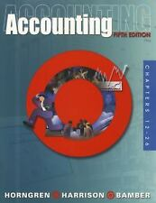 Accounting, Chapters 12-26,  5th Edition w/CD, Horngren, Harrison, Bamber, (NEW)