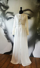 ZARA WHITE MAXI DRESS NEW LACE EMBROIDERED WEDDING BEACH