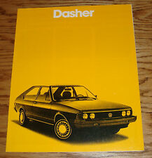 Original 1980 Volkswagen VW Dasher Sales Brochure 80