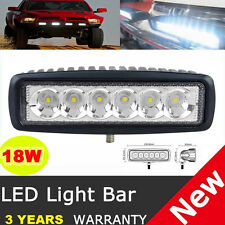 6 inch 18W Spot LED Work Bar Light Car Truck Boat Driving Fog Offroad SUV 4WD