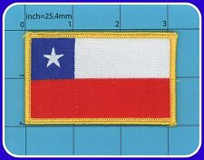 Chile Flag Iron on Patch Embroidery República de Chile TOP QUALITY free shipping