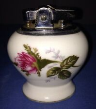 Vintage Ceramic Floral Betson's Original Bone China Table Lighter
