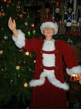 ANIMATED LIFE SIZE 5 FOOT MRS SANTA CLAUS in RED VELVET SINGS & DANCES CHRISTMAS