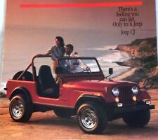 1986 86 Jeep CJ original sales brochure