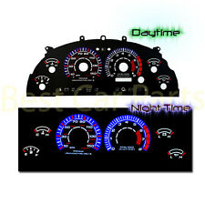BLACK 99-04 For Ford Mustang GT 4.6L V8 BLUE INDIGLO GLOW FACE GAUGES