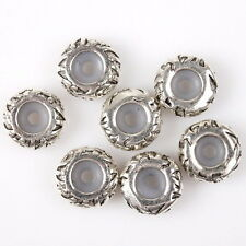 15x Hot Sale Silver Tone Carved Alloy Stopper Clip Beads Fit European Bracelet L