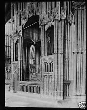 Glass Magic Lantern Slide WINCHESTER CATHEDRAL CARDINAL BEAUFORT CHANCERY C1900