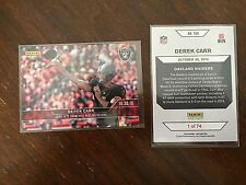 2016 Panini Instant NFL Derek Carr #164 1 of 74 Passing Record