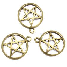 40pcs New Sale Charms Antique Bronze Alloy Round Hollow Star Shape Pendants LC