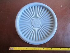 Vintage Tupperware replacement lid 812 press and seal top lid blue Servalier