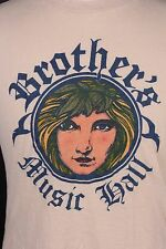 "VTG 70S ""BROTHER'S MUSIC HALL"" ROCK CONCERT T SHIRT USA MENS LARGE"