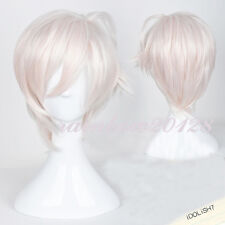 White Light Pink Mixed Idolish7 TRIGGER Kujyou Ten Anime Cosplay Wig