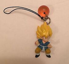 RARE Bandai Japan Dragonball Z Kai Keychain-Super Saiyan Goku & 1 Star Ball