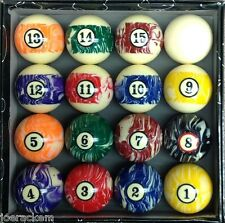 "New Standard Pool Ball Set -  2 1/4"" Regulation Weight Full Set"