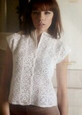 "Crochet Pattern for Lady's Stunning Top. To Fit 32-46"" Bust"