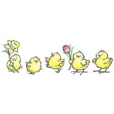 PENNY BLACK RUBBER STAMPS SPRING PARADE CHICKEN STAMP