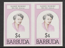 Barbuda (623) 1981 Eleanor Roosevelt $4 IMPERF COPPIA U/M