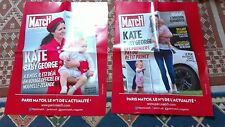 rare lot affiches grand format paris match KATE MIDDELTON PRINCE GEORGE