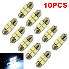 10PCS White 31mm 4 LED 5050 SMD Festoon Dome Car Light Interior Lamp Bulb 12V
