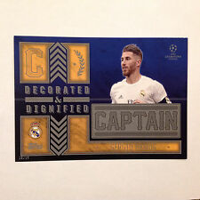Sergio Ramos Madrid F C Captain D&D #/10 Made 2016 Topps Champions UEFA 5X7 GOLD