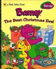 The Best Christmas Eve! (Barney) (Little Golden Books), Stephen White, Good Book