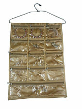 Jewellery Jewelry Organiser  Many zips bag hanging BIG Size many pouches Golden