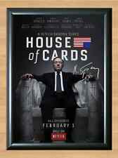 House of Cards Kevin Spacey Season 1 Signed Autographed A4 Print Photo Poster TV