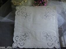 "10"" 10.5 inch SQUARE WHITE PAPER FLORAL WEDDING Envelope DOILY 50 PC FREE SHIP"