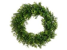 "6 Artificial 17"" Boxwood Wreath In Outdoor Grass Hedge Wall Patio Plant Decor"