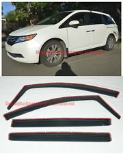 For 11-Up Honda Odyssey In-Channel Side Vent Window Visors Rain Guard Deflectors