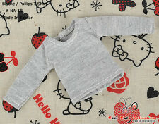 ☆╮Cool Cat╭☆ 72.【NA-18】Blythe Pullip Long Sleeve T-Shirts # Gray