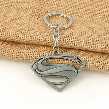 The Avengers Comics Superman Antique Silver Keychain Zinc Alloy Keyring Key Fob