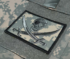 USMC FORCE RECON TALL GRASS SNIPER DIGITAL VELCRO BDG: PIRATE CALICO JACK SKULL
