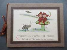 VINTAGE Card MABEL LUCIE ATTWELL Christmas Among the Fairies Toadstool 1920s