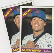 2015 TOPPS HERITAGE HIGH NUMBER DANNY MUNO 2B METS ROOKIE #557 LOT OF 2