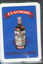Playing Swap Cards 1 VINT WIDE BRITISH  CLAYMORE  SCOTCH WHISKY ADVT D64